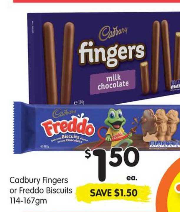 SPAR Cadbury Fingers Or Freddo Biscuits