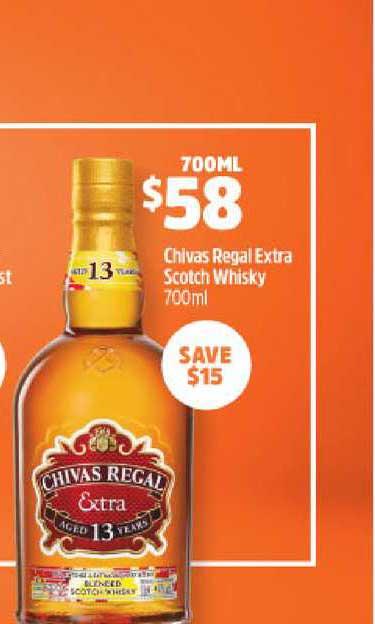 BWS Chivas Regal Extra Scotch Whisky