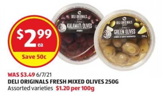 ALDI Deli Originals Fresh Mixed Olives