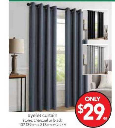 Cheap As Chips Eyelet Curtain