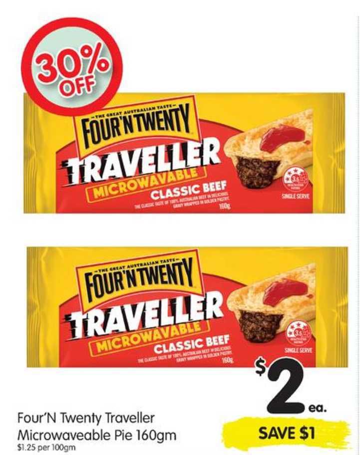 SPAR Four'n Twenty Traveller Microwaveable Pie