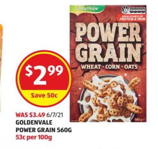 ALDI Goldenvale Power Grain 560g