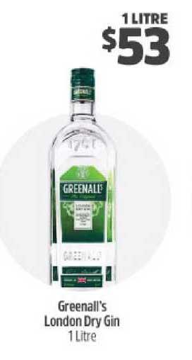BWS Greenall's London Dry Gin