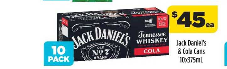Liquorland Jack Daniel's & Cola Cans