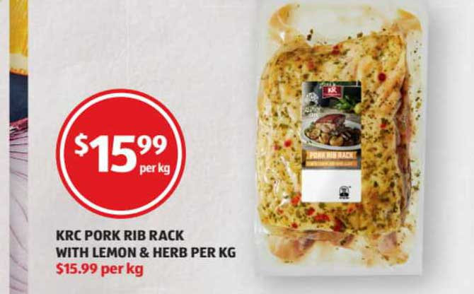 ALDI KRC Pork Rib Rack With Lemon & Herb