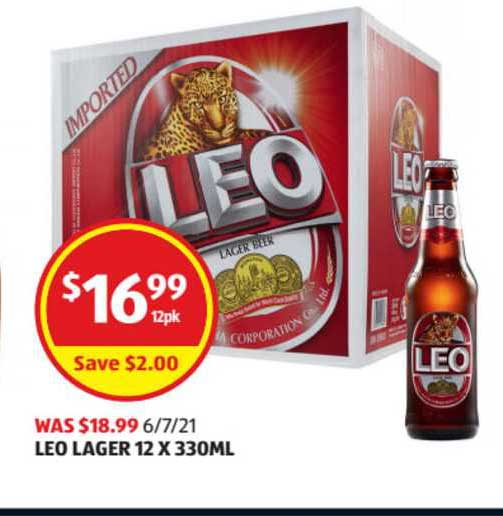 ALDI Leo Lager 12 X 330ml
