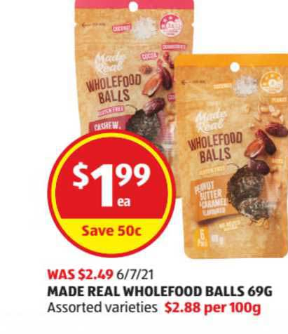 ALDI Made Real Wholefood Balls 69g