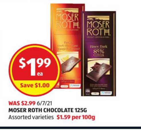 ALDI Moser Roth Chocolate