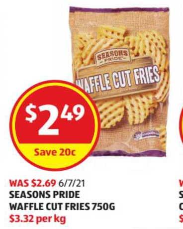 ALDI Seasons Pride Waffle Cut Fries