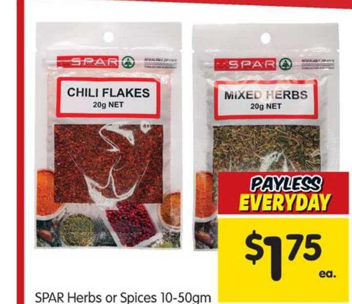 SPAR Spar Herbs Or Spices