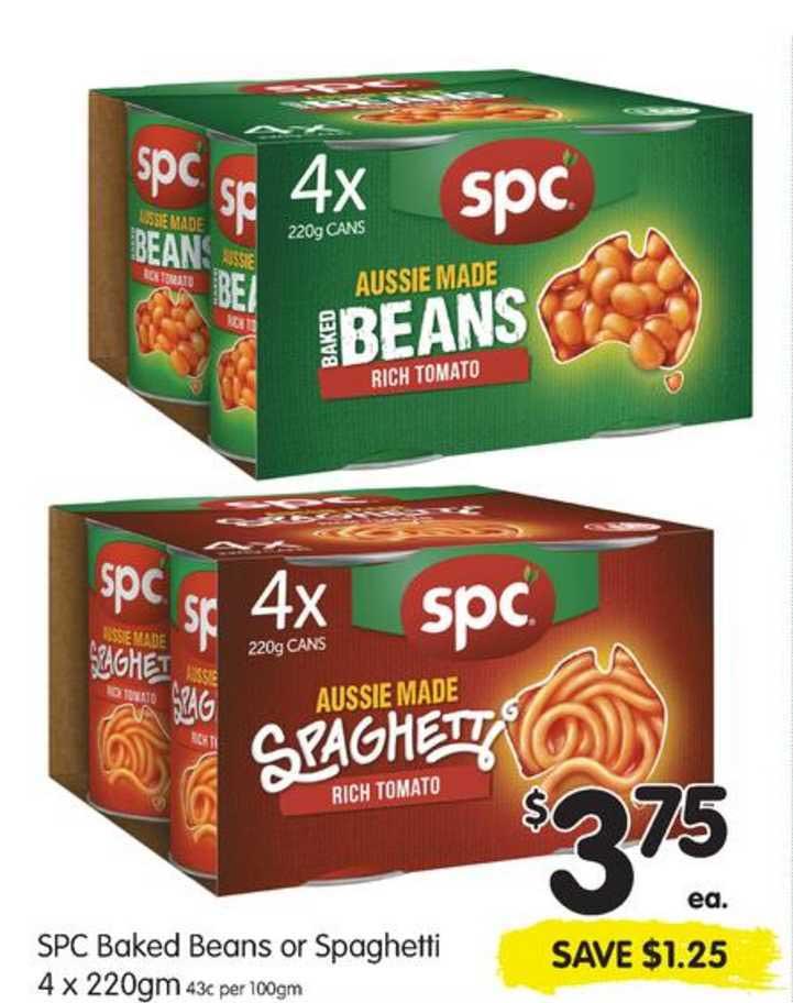 SPAR Spc Baked Beans Or Spaghetti
