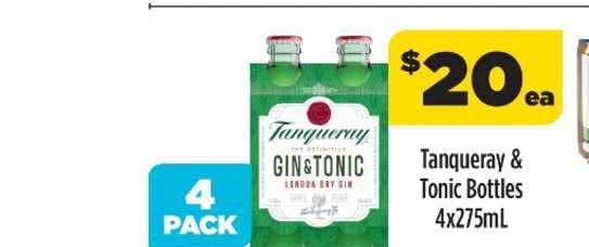 Liquorland Tanqueraa & Tonic Bottles