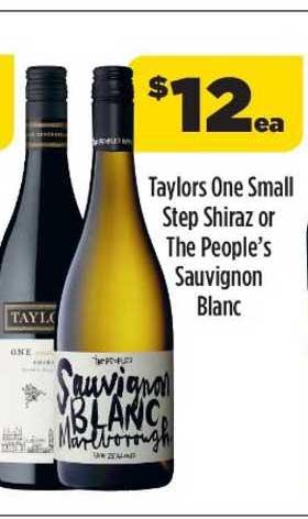 Liquorland Taylors One Small Step Shiraz Or The People's Sauvignon Blanc