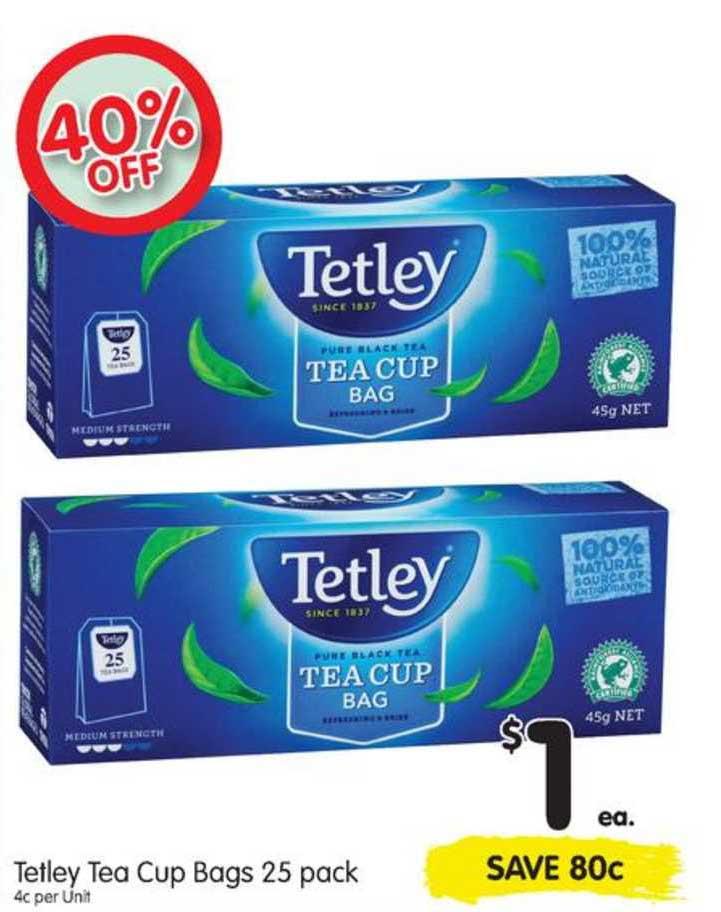 SPAR Tetley Tea Cup Bags 25 Pack