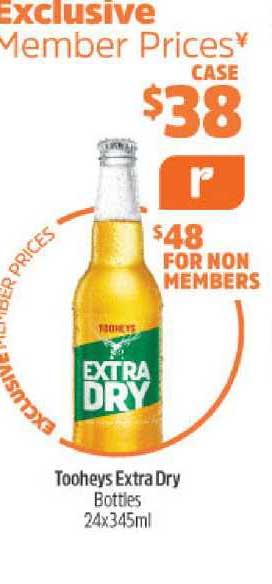 BWS Tooheys Extra Dry