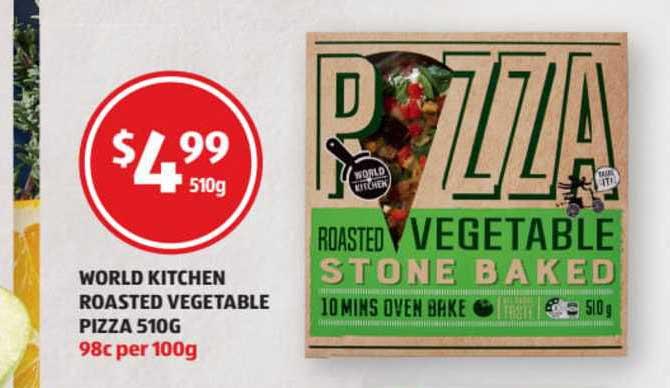 ALDI World Kitchen Roasted Vegetable Pizza 510g