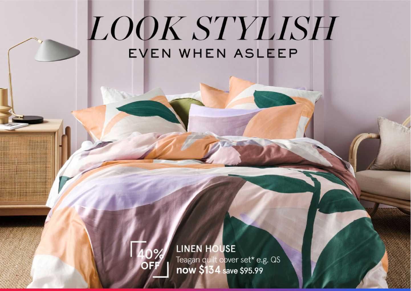 Myer Linen House Teagen Quilt Cover Set
