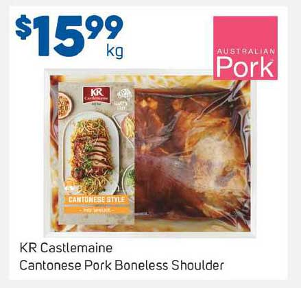 Foodland KR Castlemaine Cantonese Pork Boneless Shoulder