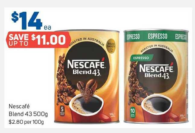 Foodland Nescafe Blend 43 500g