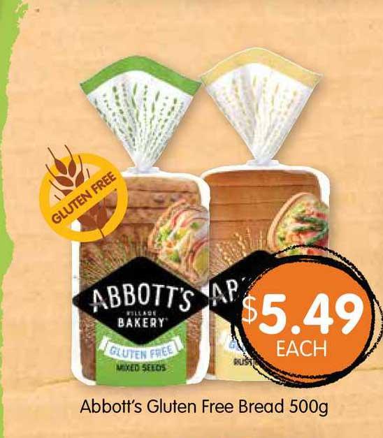 Spudshed Abbott's Gluten Free Bread 500g