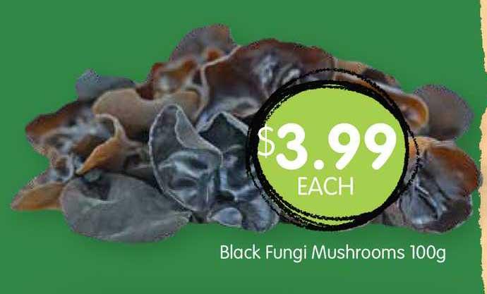 Spudshed Black Fungi Mushrooms 100g