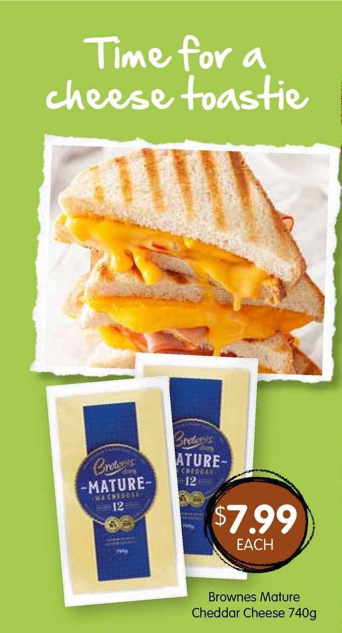 Spudshed Brownes Mature Cheddar Cheese 740g