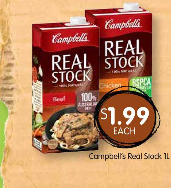Spudshed Campbell's Real Stock 1L
