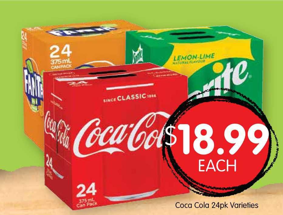 Spudshed Coca Cola 24pk Varieties