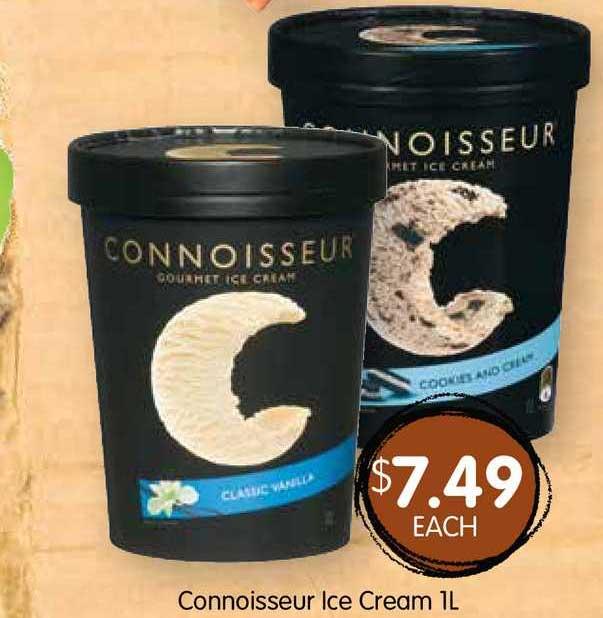 Spudshed Connoisseur Ice Cream 1L