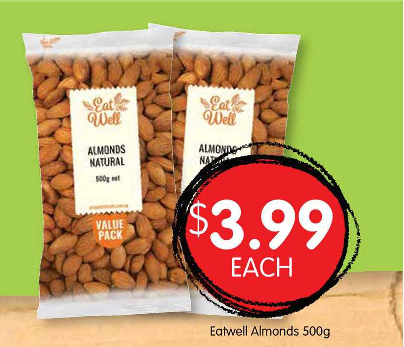 Spudshed Eatwell Almonds 500g