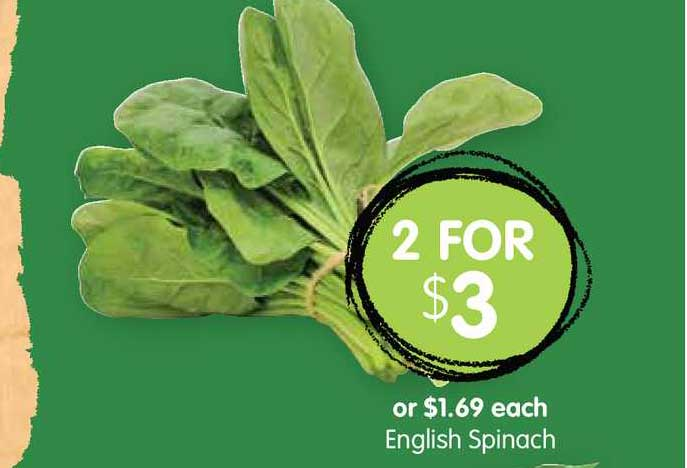Spudshed English Spinach