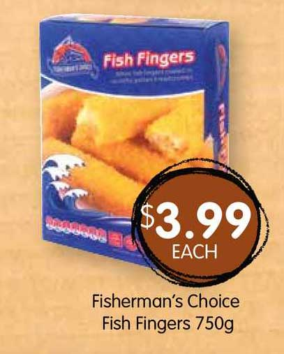 Spudshed Fisherman's Choice Fish Fingers 750g
