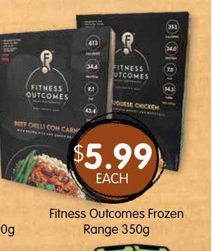 Spudshed Fitness Outcomes Frozen Range 350g