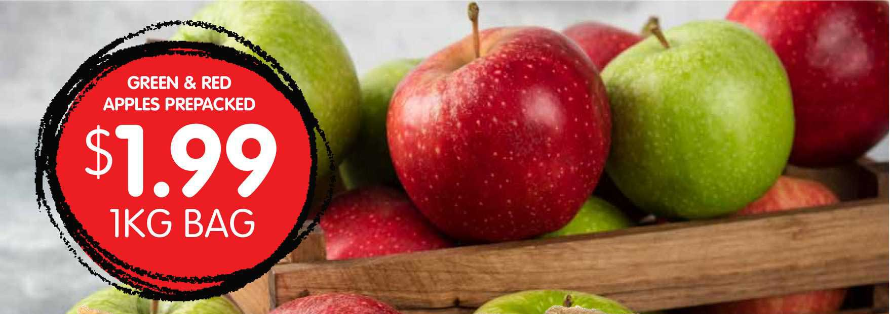 Spudshed Green & Red Apples Prepacked