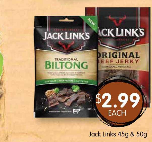 Spudshed Jack Links 45g & 50g