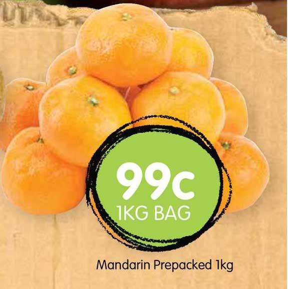 Spudshed Mandarin Prepacked 1Kg
