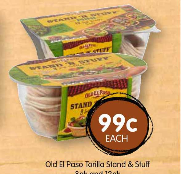 Spudshed Old El Paso Torilla Stand & Stuff 8pk And 12pk