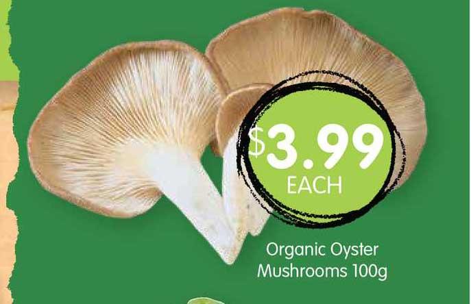 Spudshed Organic Oyster Mushrooms 100g