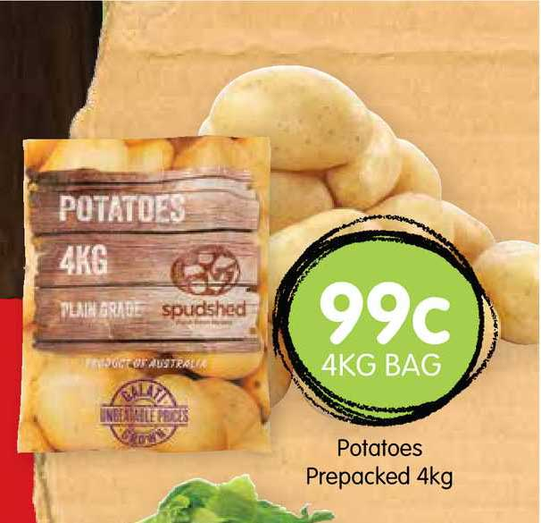 Spudshed Potatoes Prepacked 4Kg