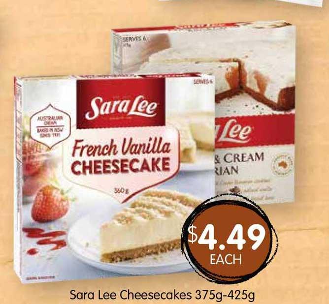 Spudshed Sara Lee Cheesecakes 375g-425g