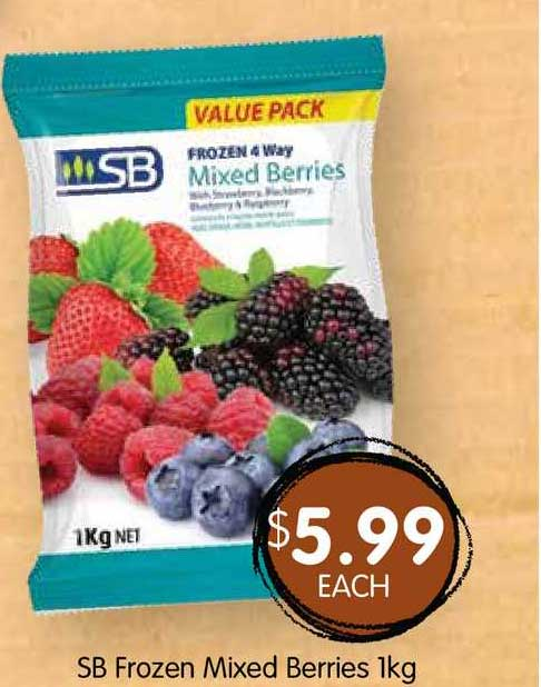 Spudshed SB Frozen Mixed Berries 1Kg