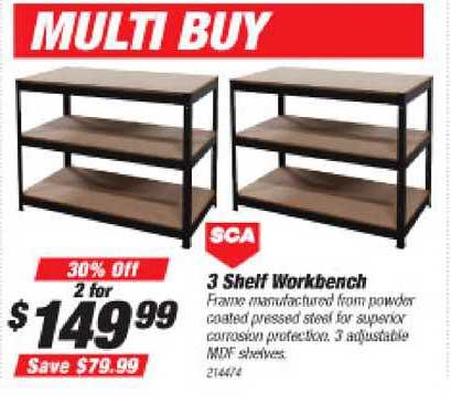 Supercheap Auto Sca 3 Shelf Workbench