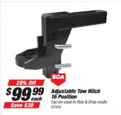 Supercheap Auto SCA Adjustable Tow Hitch 16 Position