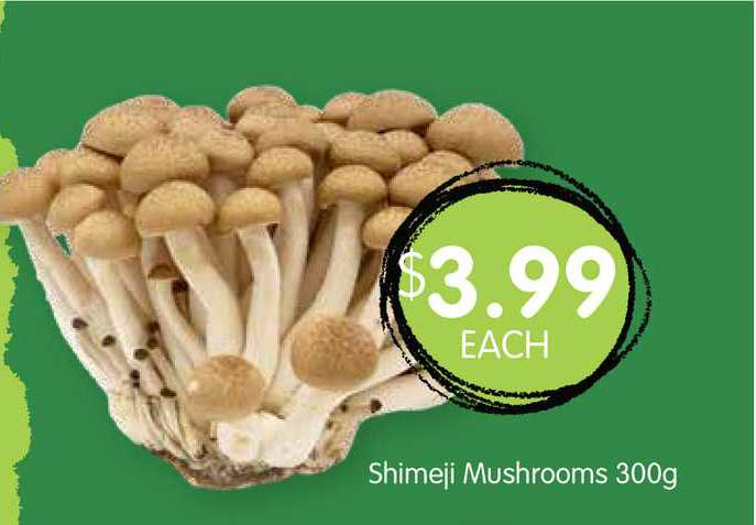 Spudshed Shimeji Mushrooms 300g