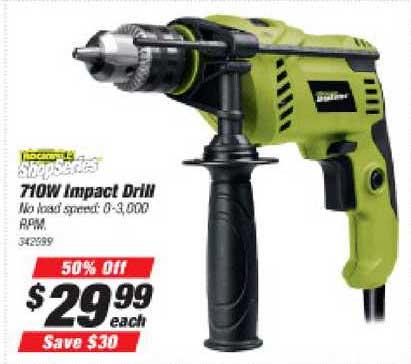 Supercheap Auto Shopseries 710w Impact Drill