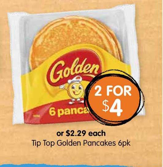 Spudshed Tip Top Golden Pancakes 6pk