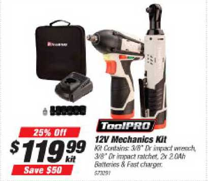 Supercheap Auto Toolpro 12v Mechanics Kit