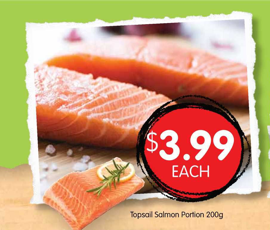 Spudshed Topsail Salmon Portion 200g