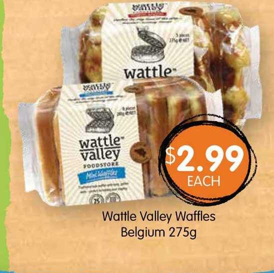 Spudshed Wattle Valley Waffles Belgium 275g