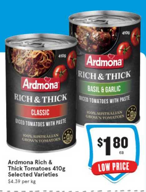 IGA Ardmona Rich & Thick Tomatoes 410g